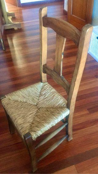 5 sillas de madera mejicana