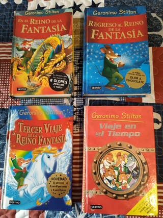 Lote 4 libros Geronimo Stilton