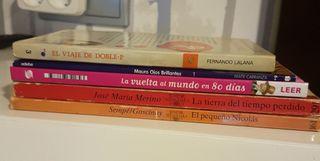 Pack 5 libros lectura escolar.