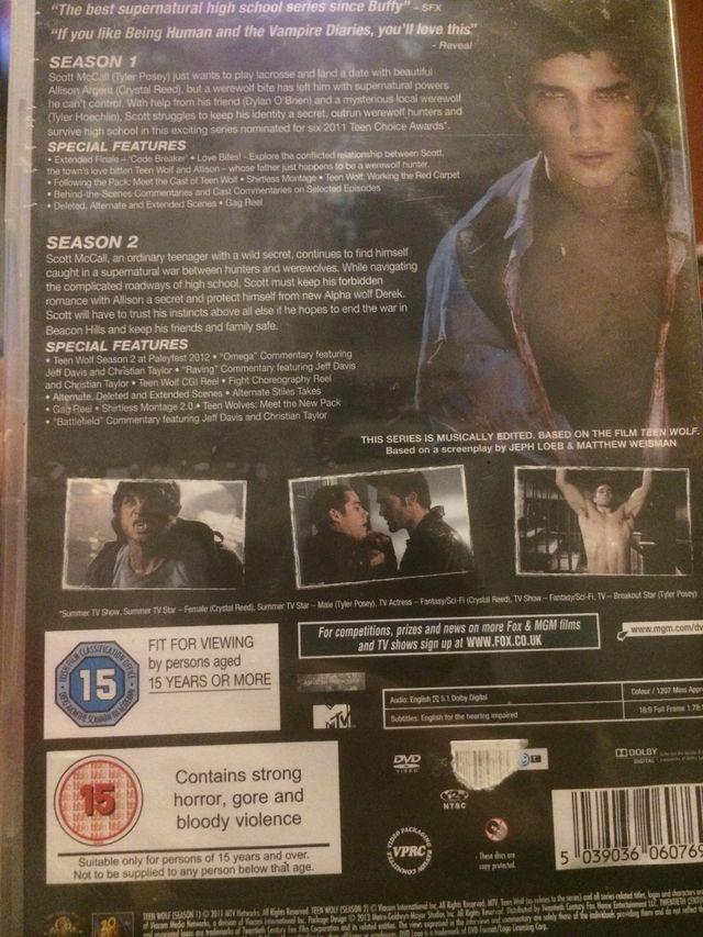 Teen Wolf DVD Season 1 & 2