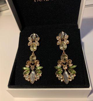 Pendientes Cristal Esmeralda Austriacos