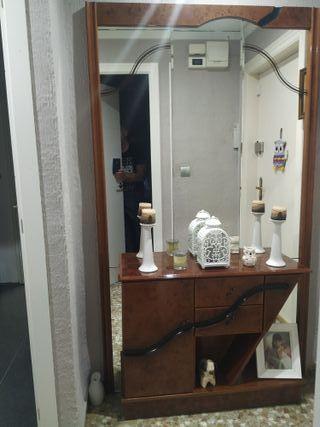 Comsola-recibidor con espejo