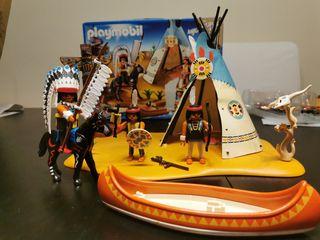 campamento indio Playmobil