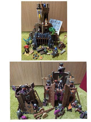 Playmobil lote medieval Torreón 3665 y Fortaleza