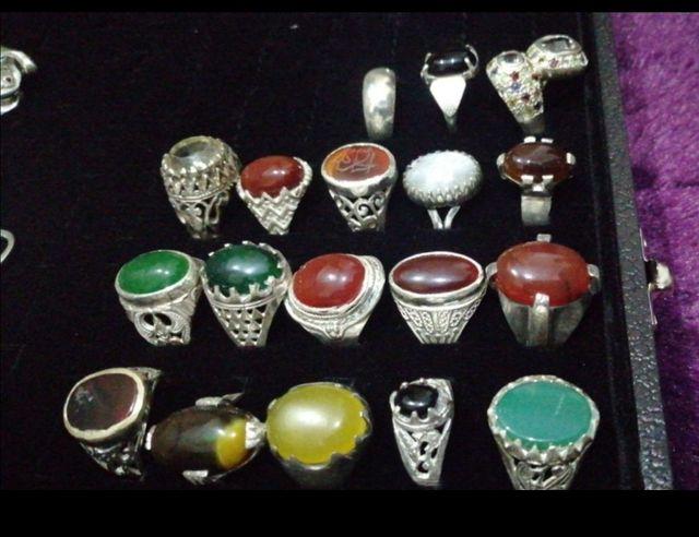 original silver stone rings
