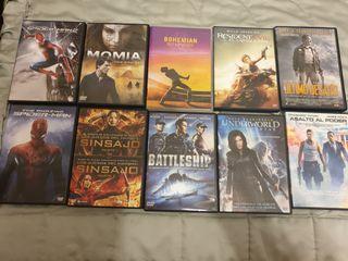 dvds y 2 blu-ray