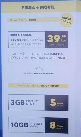 FIBRA+FIJO+2 LINEAS MOVILES
