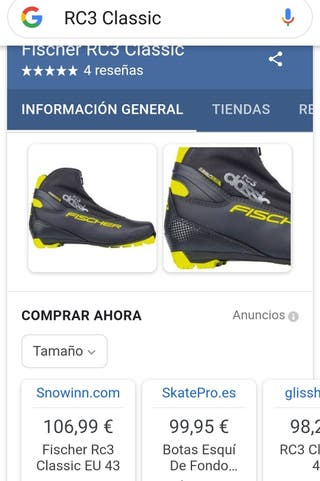 botas esqui fischer