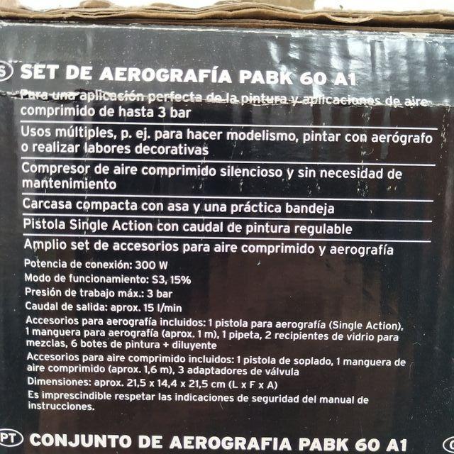 set aerógrafo parkside
