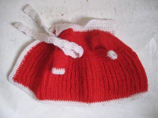 vestido rojo y blanco de punto para Barriguitas
