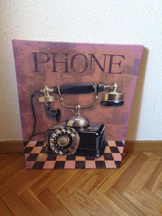 cuadro teléfono antiguo