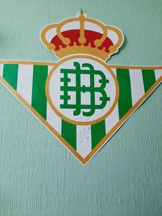 Bufandas Real Betis y firma.