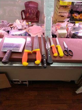 cuchillos carnicería, charcutería