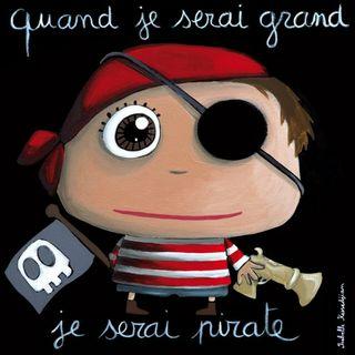 cuadro Piratas niños