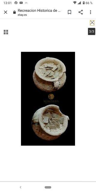 recreación histórica de monetario cerámico