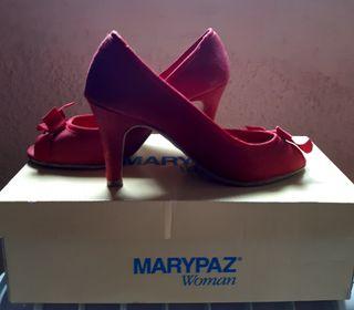 zapatos de tacón color rojo n°35