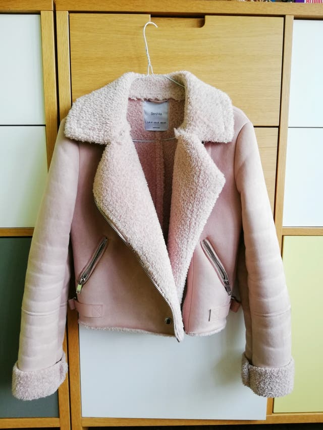 Pink jacket girl XS inditex