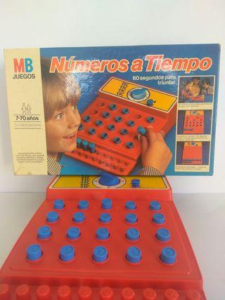 NÚMEROS A TIEMPO DE MB JUEGOS DE LOS 80 VINTAGE