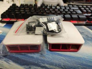 caja Raspberry Pi 3 b con refrigeradores