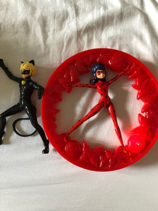 ladybug + rueda giratoria. +regalo cat noir