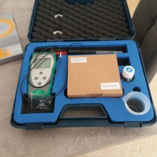Medidor ph agua y agitador magnético