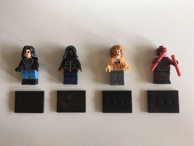 Lote de figuras tipo Lego de Marvel