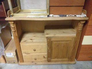 mueble madera de pino natural con cajones