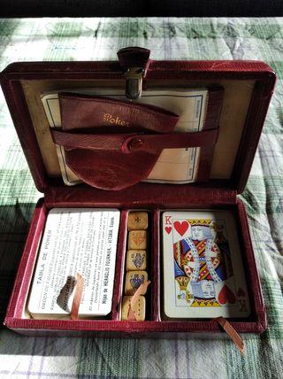 Estuche juego vintage de Poker y dados años 30/40