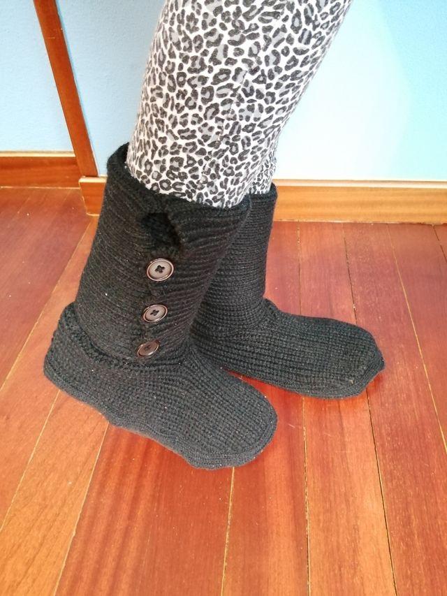 Calcetines/zapatillas altos antideslizantes