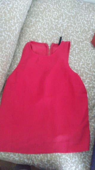 Top Blusa Camisa Tirantes Mujer Rosa Stradivarius