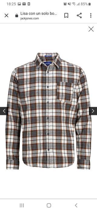 camisa hombre cuadros jack& jones