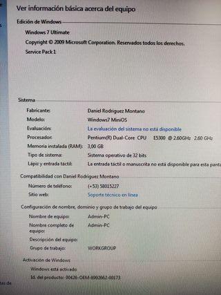 Ordenador completo Intel, monitor de 20 pulgadas
