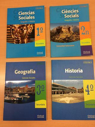 lote libros geografia historia 1 2 3 4 ESO oxford