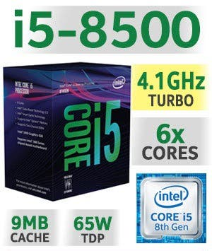 Intel i5 8500 (6 núcleos)