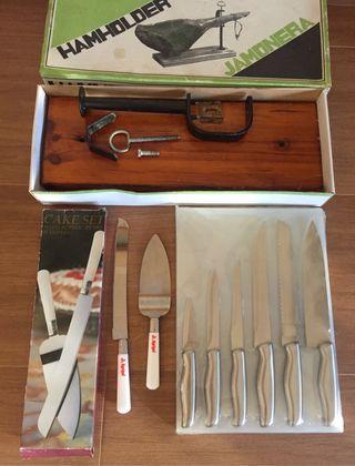 Cuchillos cocina y jamonera