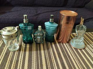 frascos perfumes vacios