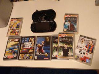 PSP & y 8 Videojuegos