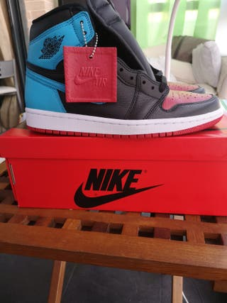 jordan 1 unc black white red and blue