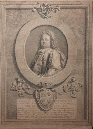 1697 Grabado Gerard Edelinck Autentico