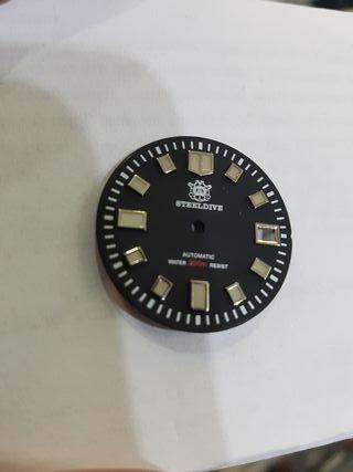 dial esfera para seiko 6105 sharkey y similar