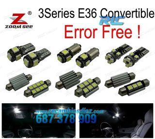 KIT COMPLETO DE 11 BOMBILLAS LED INTERIOR BMW E36