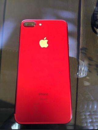 Iphone 7 plus 256gb Rojo