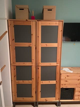 muebles ropero color madera natural