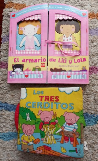 Lote 2 cuentos juguete con muñecos