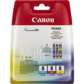 Cartuchos de tinta de color Canon CLI-8 C/M/Y