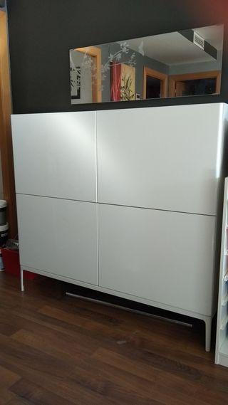 Mueble comedor ikea blanco brillo