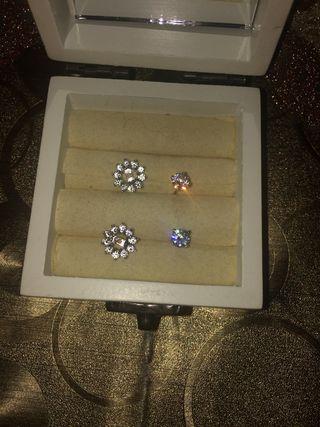 Conjunto anillo y pendientes