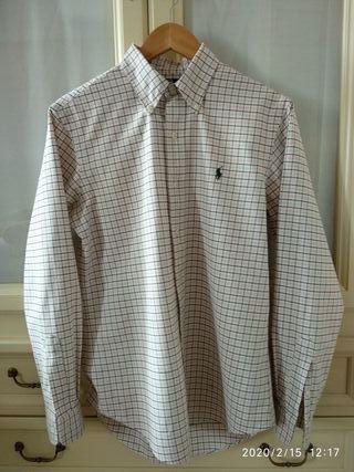 Camisa cuadros verdes y rosas, Ralph Lauren