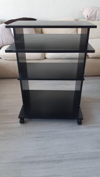 Mesa auxiliar negra