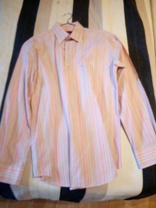 Lote 2 Camisas Rosas: Pedro Del Hierro + Armani
